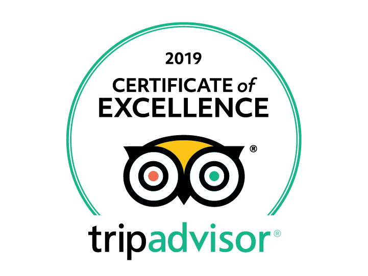 TripAdivor certificate of excellence 2019