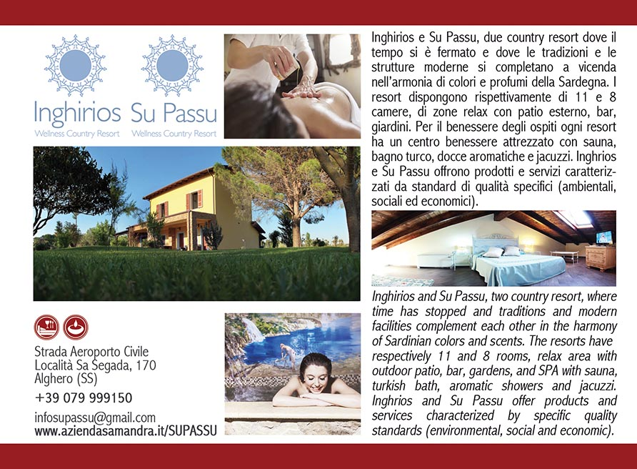 Wellness country resort Sardinia Alghero Inghirios Su Passu